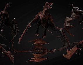 3D Big Fantasy Wyvern Dragon