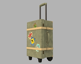 3D model rigged Luggage