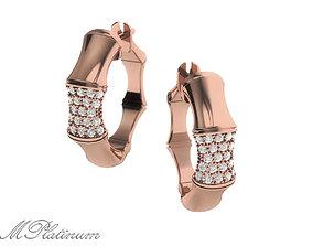 Earrings Bamboo 0031 3D print model