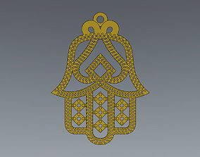 Moroccan khmissa pendant and motif 3D printable model 3