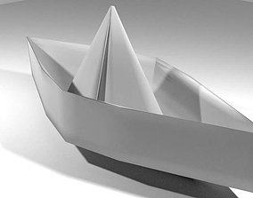 Origami - Boat 3D