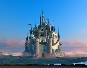 Cartoon Castle historic 3D