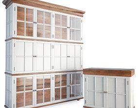 Wood Storage Furniture 3D
