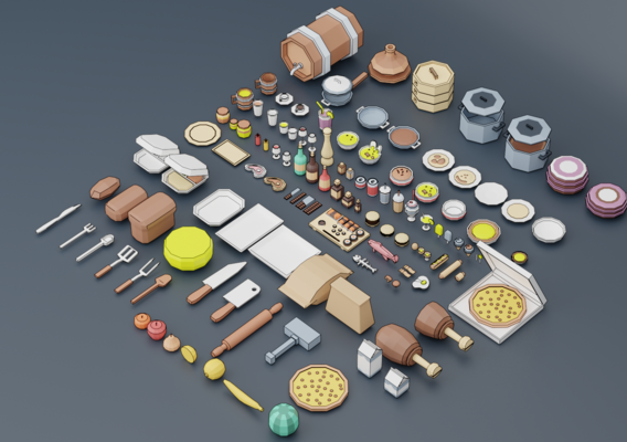 A set of products drinks kitchen utensils