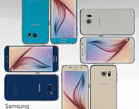 3D model Samsung Galaxy S6 All Color Pack