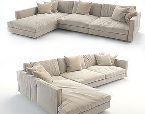 3D printable model realistic sofa