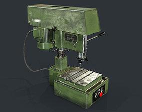 3D asset 2M112 Drill Press - Metalworking Machine - Soviet