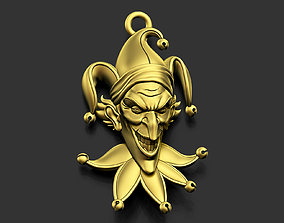 stylized 3D print model Joker Pendant