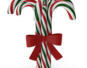Christmas candy canes 3D