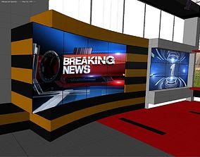 News Studio Set 3D