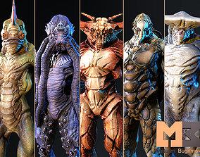 Monsters Underwater Pack 3D asset