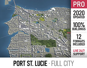 Port St Lucie - city and surroundings 3D asset