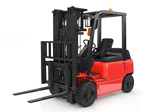 Forklift Animated industrial 3D model