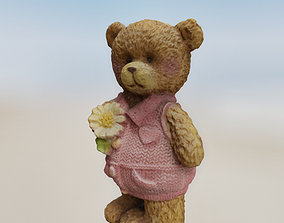 Bear Tiny Figurine 3D asset