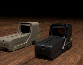 Holographic Sight 3D asset game-ready