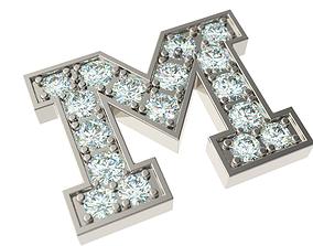 3D printable model Letter M