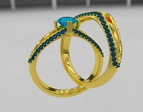 3D model Diamond gold ring