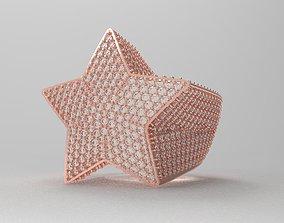 Diamond Star ring luxury v6 menring 3D print model