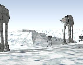 3D model Star Wars Hoth imperial troop