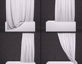 3D Bathtub curtains