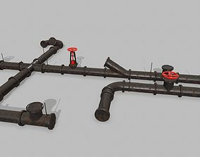 pipe set 3D asset