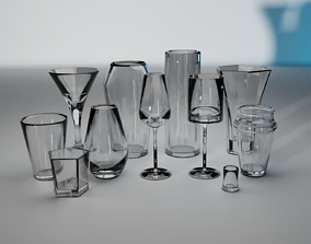 3D model bottle Glass collection