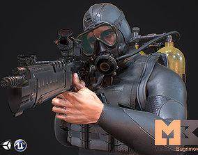Military Diver 3D asset