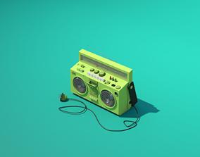 3D asset JVC Music Player