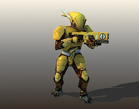 3D asset Tau Warrior Rigged