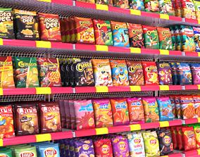 Supermarket Snack chips 3D asset