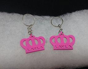 3D printable model keychain crown