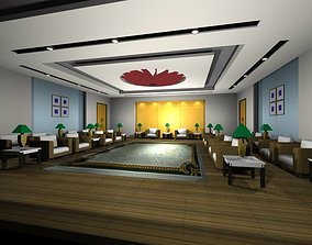 Luxury architectural Hall Lobby 3D model interiors