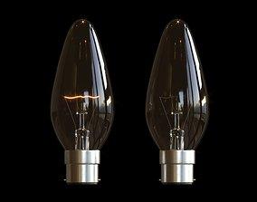 3D asset Candle Bulb