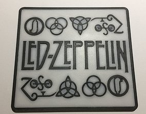 3D printable model Led Zeppelin Logo Coaster