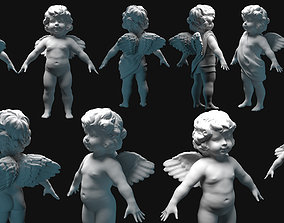 3D model caffe cupid angel for valentines day