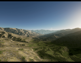 Valley Landscape 3D asset