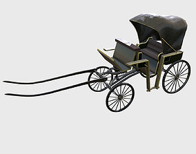Historic Victorian Carriage 3D model low-poly