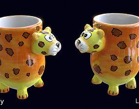 Clay Tiger Mug 3D model