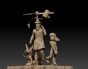 3D printable model Inspector Gadget and Family