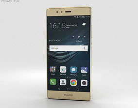 Huawei P9 Haze Gold 3D model gold