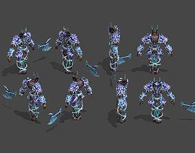 The snow monster 3D asset