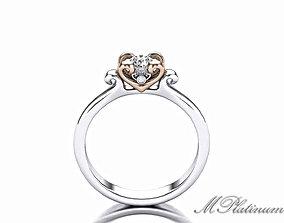 3D printable model Heart Ring wedding