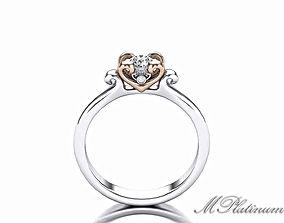 3D print model Heart Ring engagement