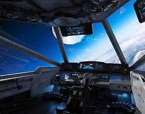 Spaceship Cockpit v3 3D aircraft