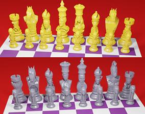 CHESS Board AVENGERS VS JUSTICE LEAGUE 3D print model