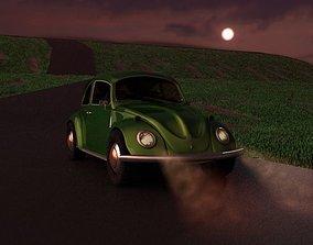 Old Beatles Car reimagined 3D model