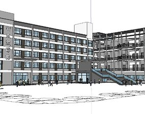 Office-Teaching Building-Canteen 20 3D