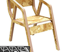 Chair Deca - CNC router or water cut 3D print model
