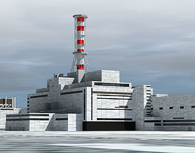 3D model Chernobyl Nuclear Power Plant exterior