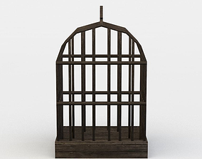 3D model game-ready Bird cage